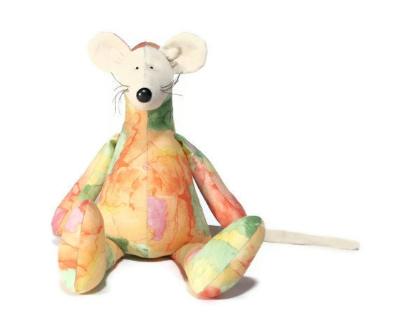 plush mouse colorful animal toy for children - andreavida