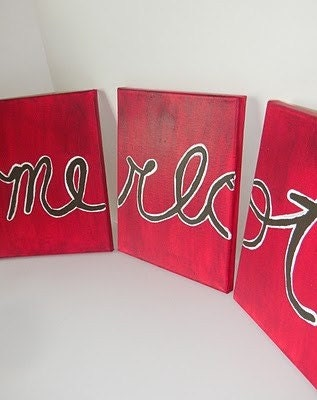 Merlot-Red Three Canvas Wall Art 8x10
