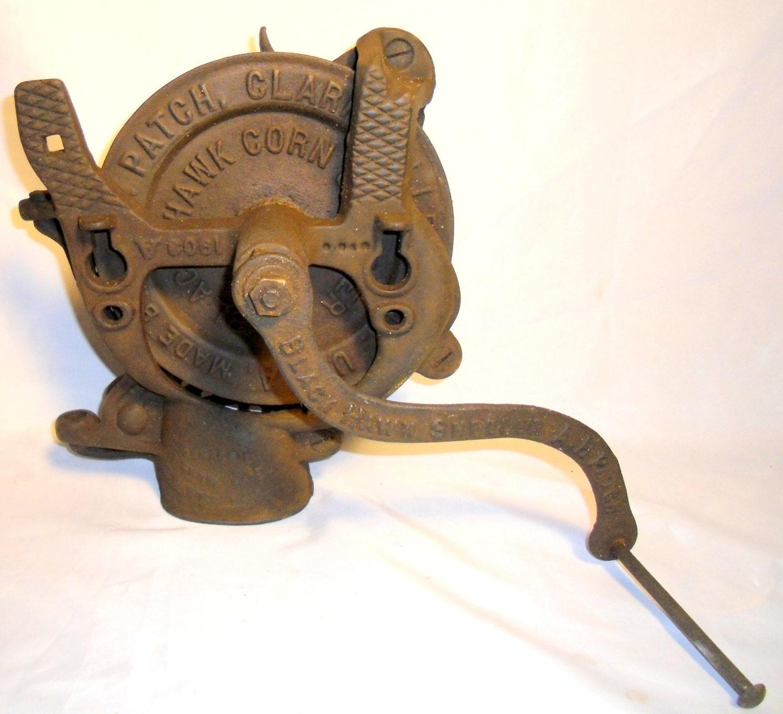 Vintage cast iron tube sheller