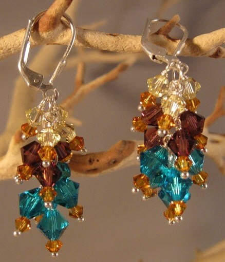 Gorgeous Multi-colored Swarovski Crystal Earrings