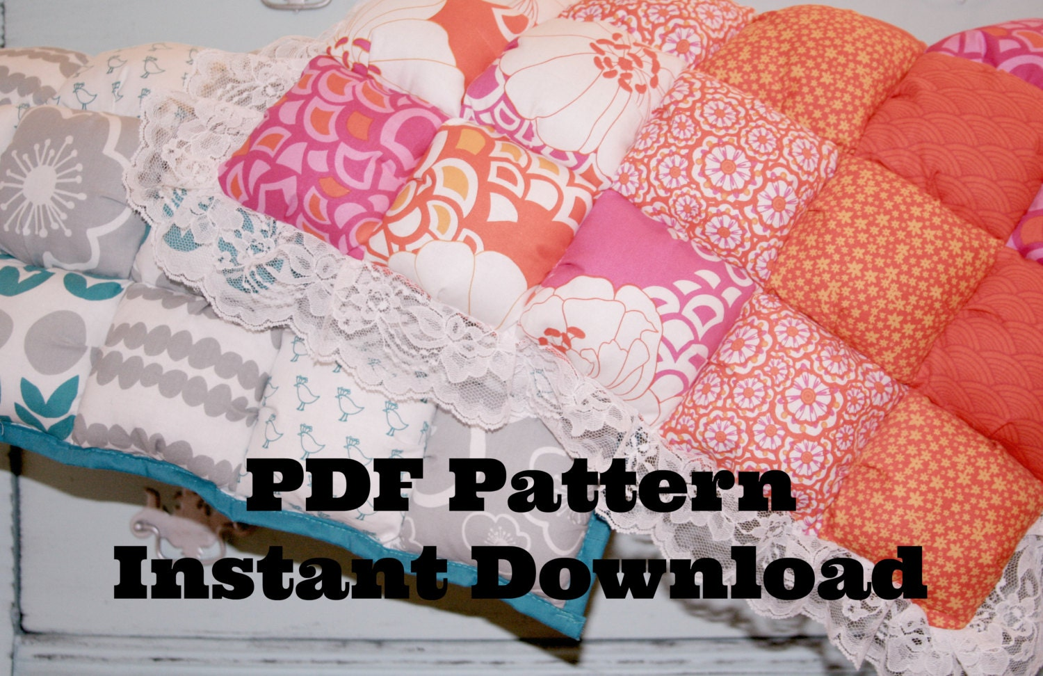 Make Your Own Puff Quilt Pdf Pattern Biscuit Quilt By