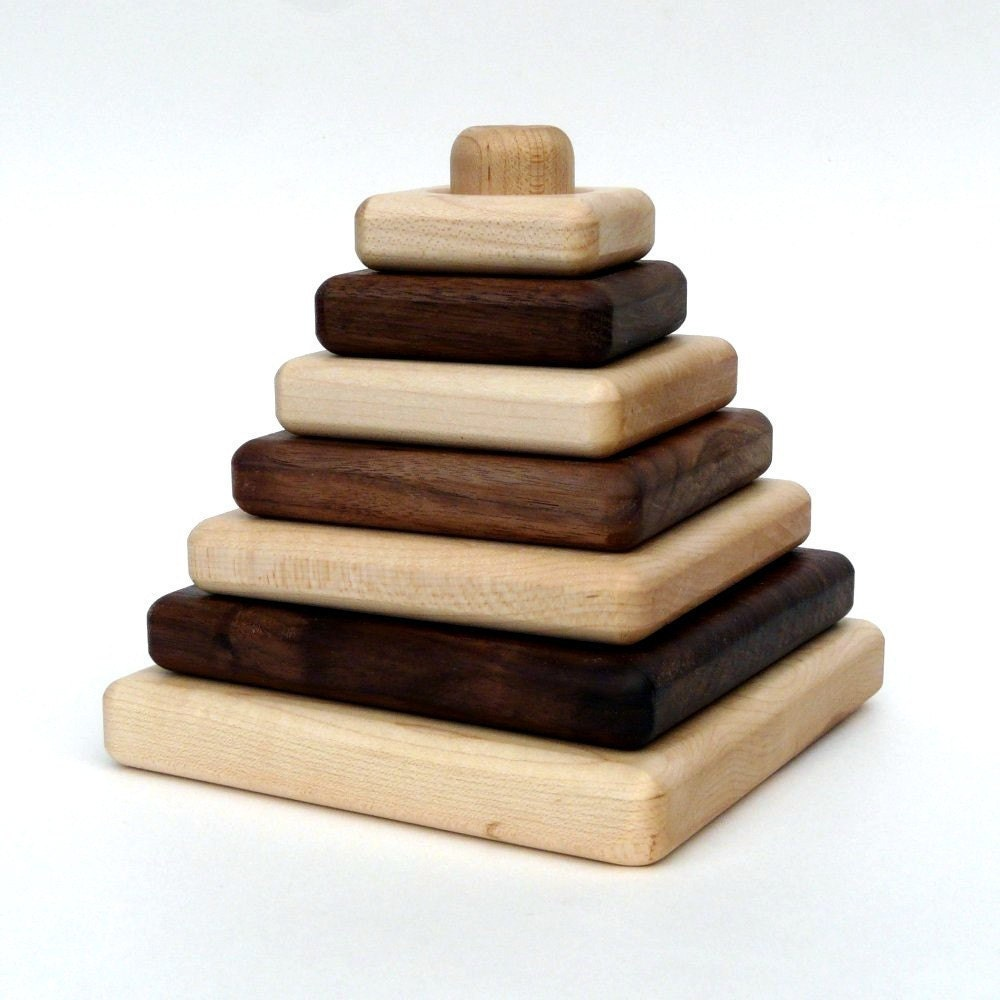 organic SAPLING STACKER - natural wooden developmental toy