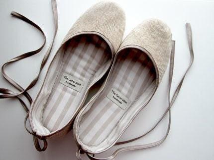 Eco-chic Handmade Vegan Ballet Flats - 902A