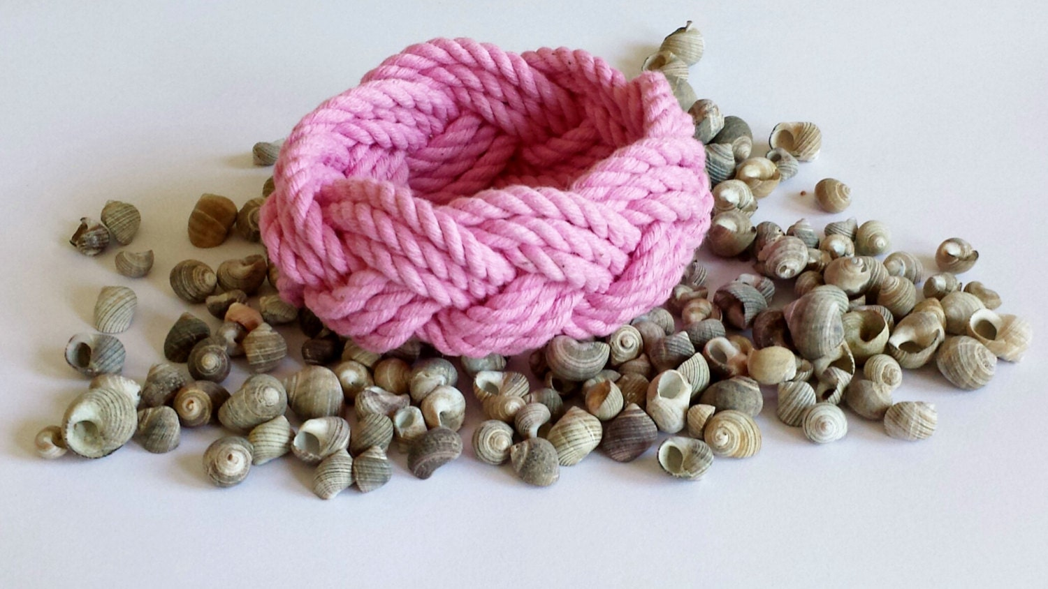 Turk's Head Three Strand Bracelet in Pink - OlioDesigns