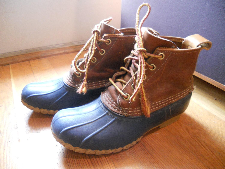 Ll bean duck boots blue