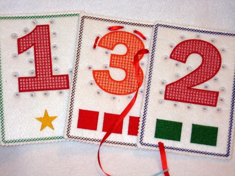 LEARN YOUR NUMBERS SEWING CARDS. From itsthesmallthings