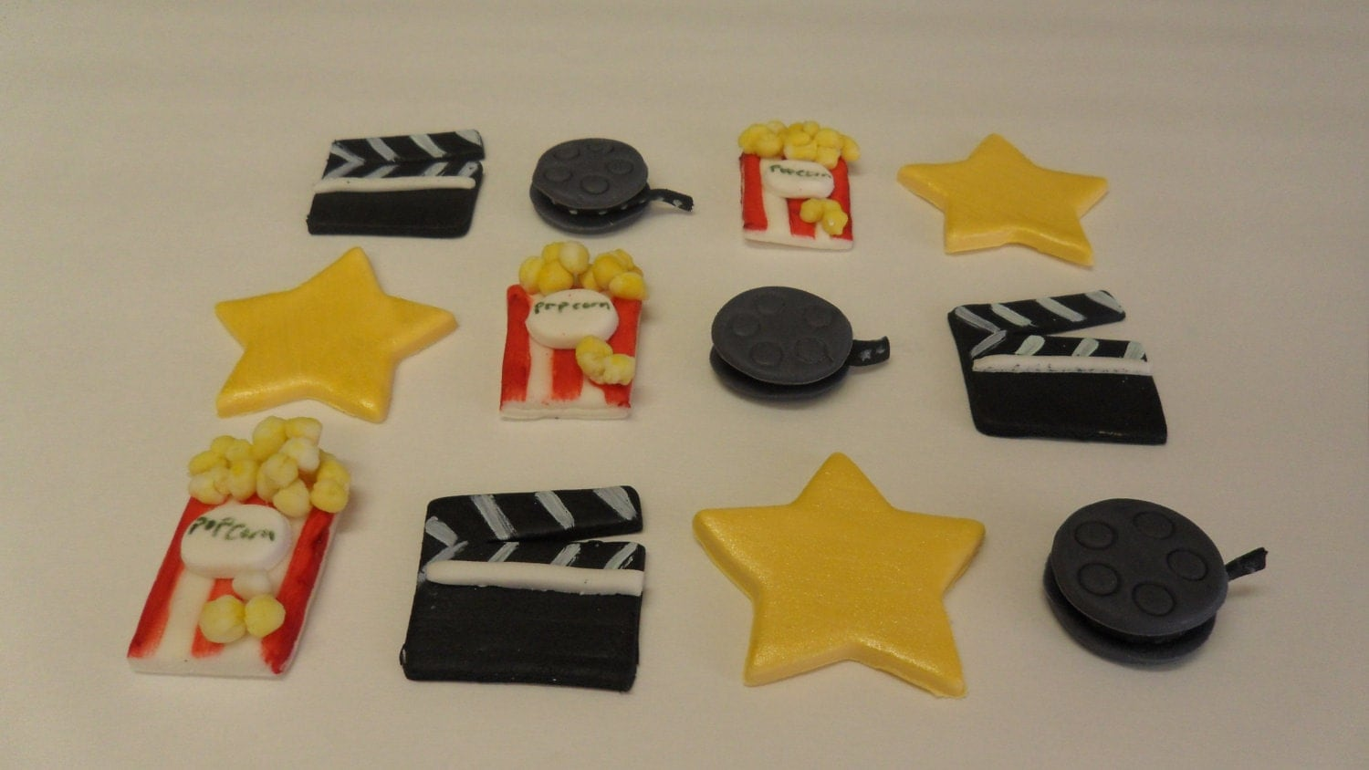 Movie Themed Fondant Cupcake Toppers by KraftyKakes on Etsy