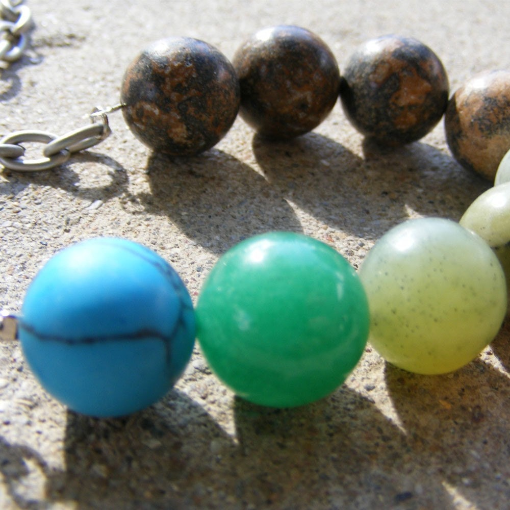 Earth Tone Spectrum necklace jewelry