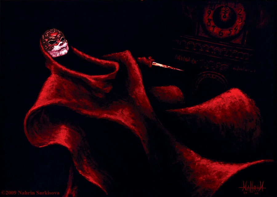 "Masque of The Red Death -  Limited Edition 11"" x 14"" Archival Quality Print"
