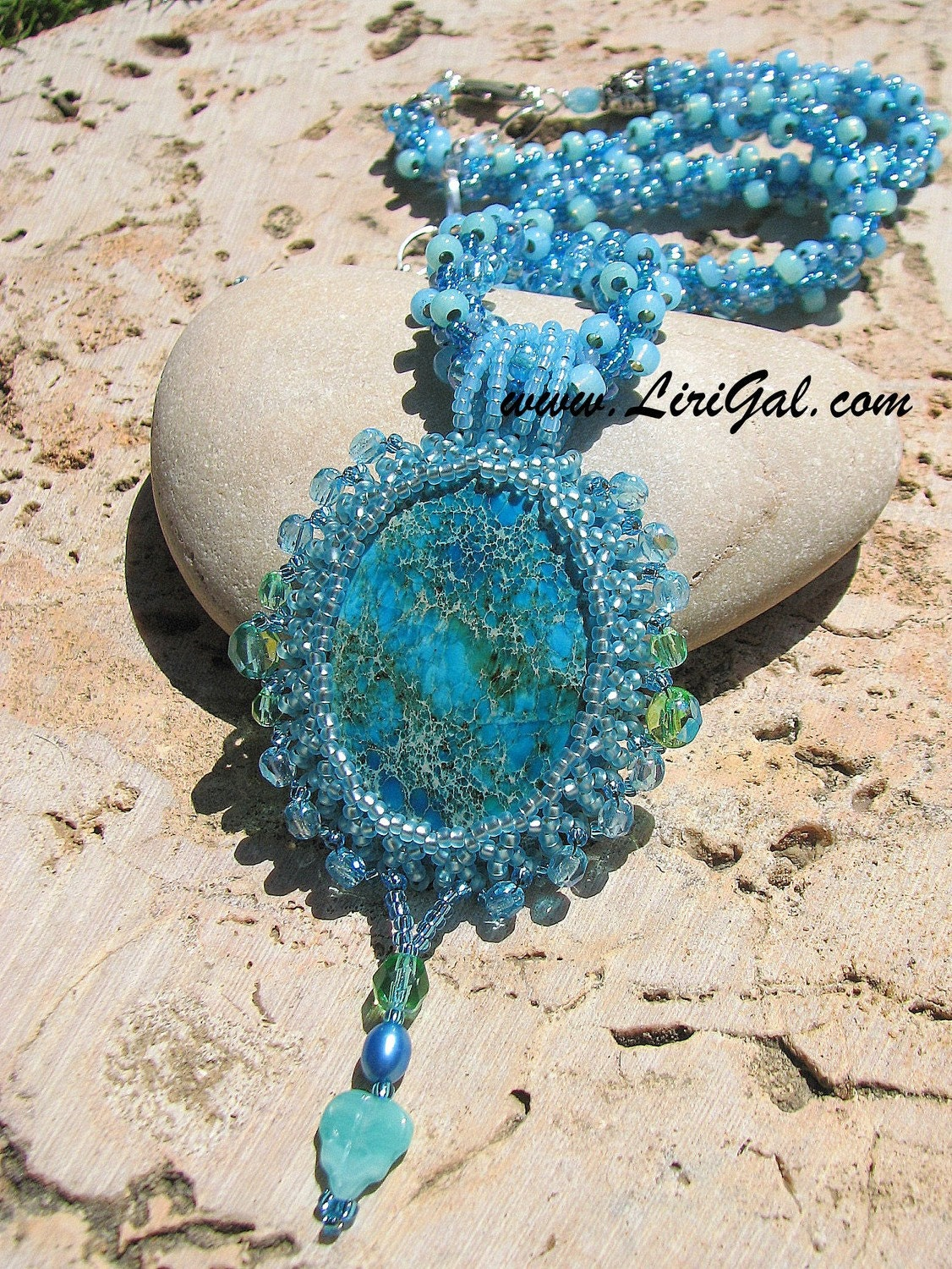 Gloria.Beaded Pendant.