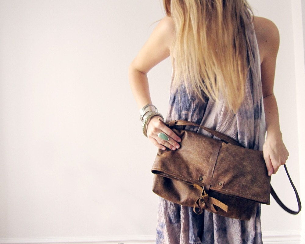 THE SATCHEL - tan leather tote