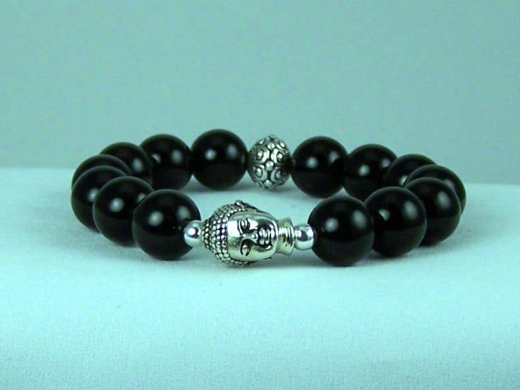 Freeing Black Onyx Meditation Bracelet, Yoga Bracelet, Stretch Bracelet, Free Shipping, Gift Ideas
