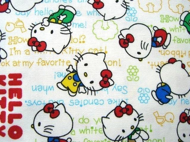 Cute Japanese Cotton Fabric-Hello Kitty Half Yard (F219)