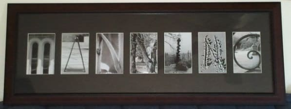 Alphabet Photography Art Unique Name Gifts