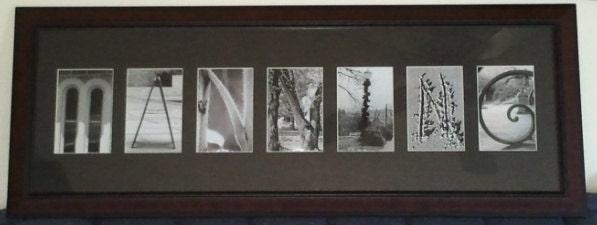 Alphabet Photography Art Unique Name Gifts