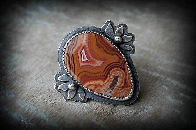 Artisan stone ring
