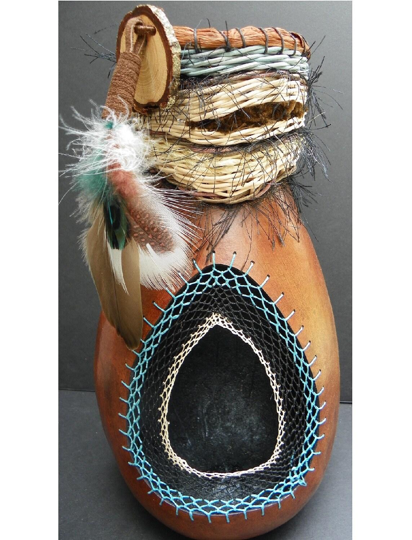 gourd native american dream catcher gourd art