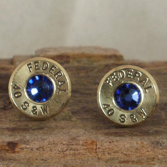 bullet earrings stud earrings ultra thin by shellsnstuff