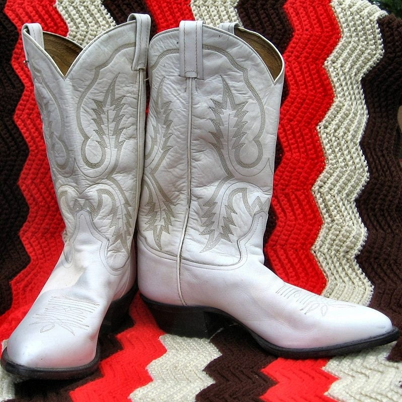 Rockabilly Tony Lama Wedding Boots