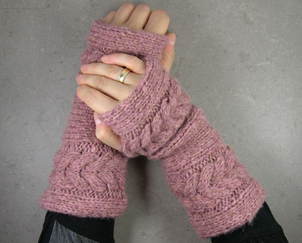 пальцев рук перчатки без пальцев, обогреватели варежки в старых кабелей выросла трикотажные короткие мягкие