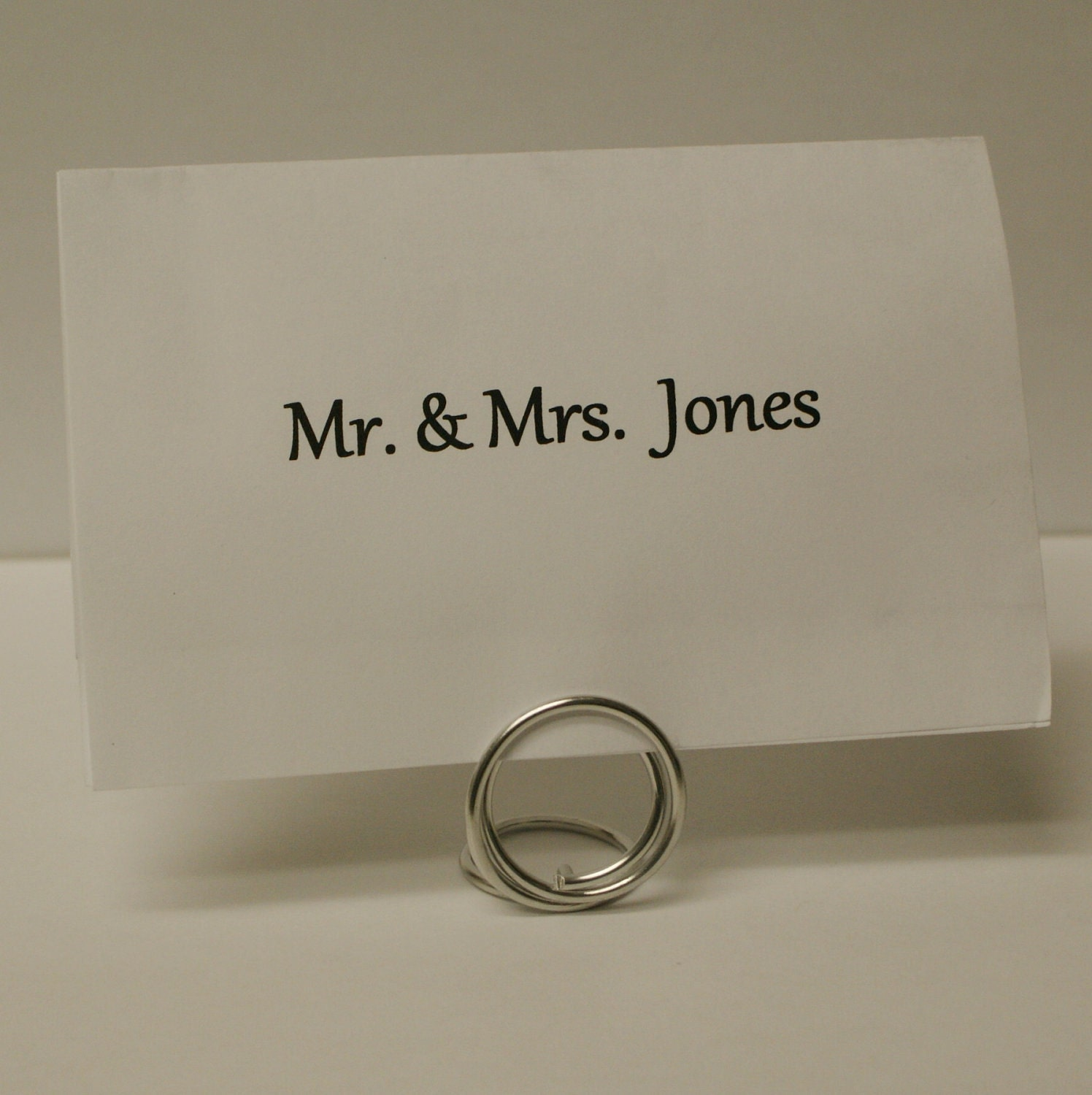 Silver name card place holders set of 20 small by cufflinked for Place settings name card holders