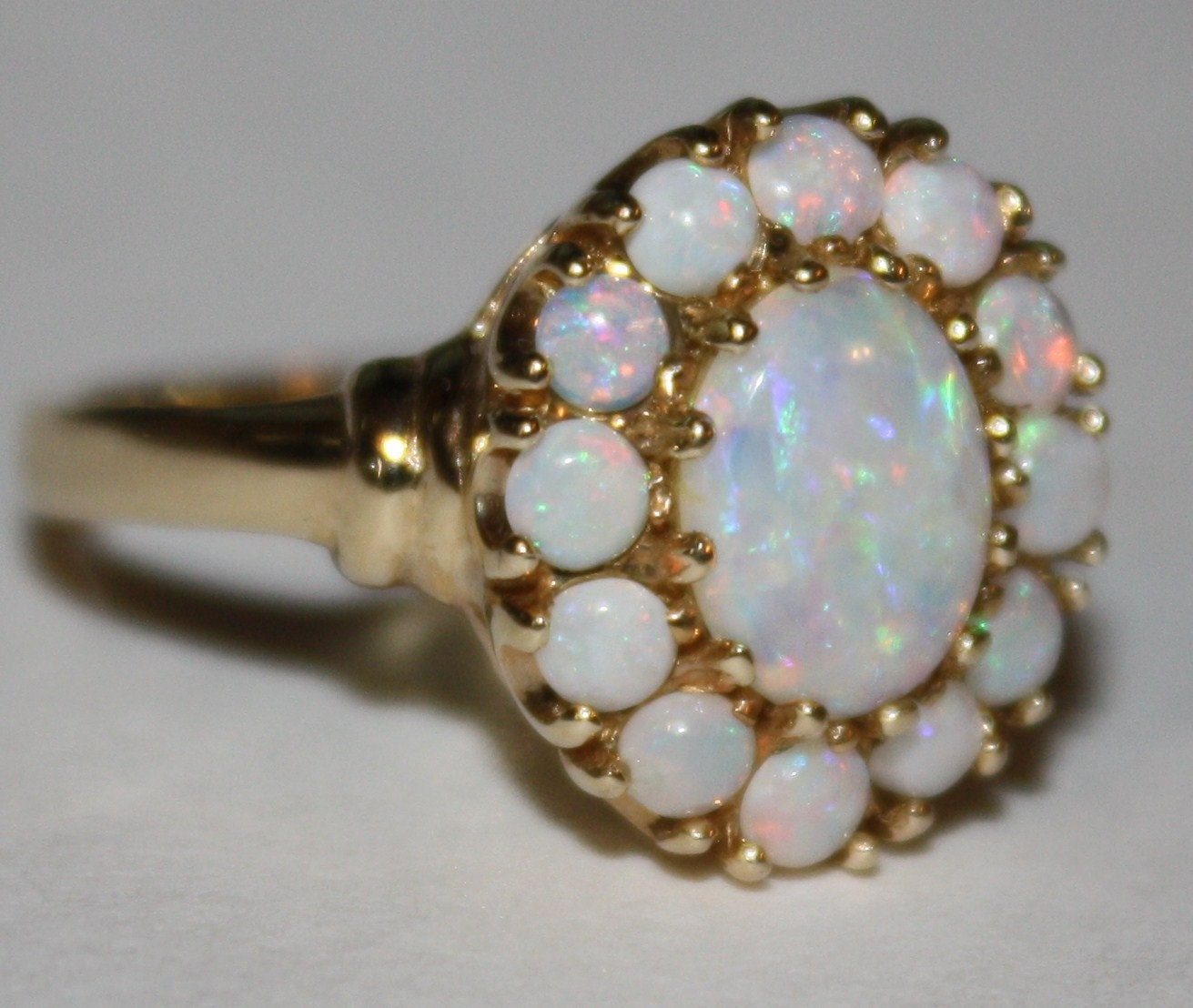 vintage opal ring 10k gold ring 1930 s circa by