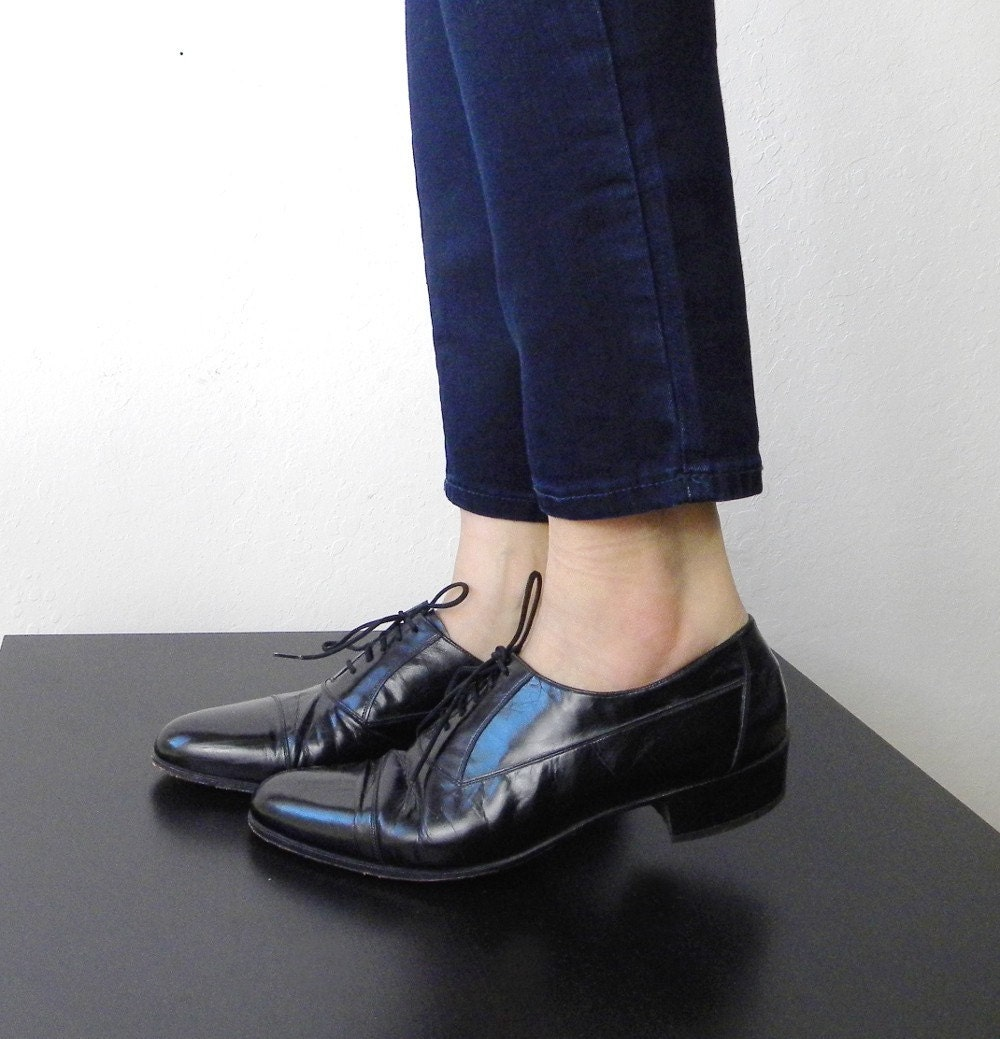 Vintage Black Oxford Brogues Size 9.5M