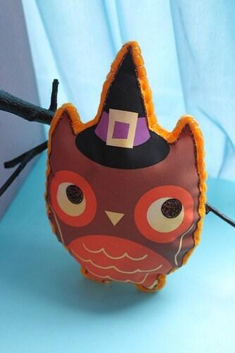 Stuffed Halloween Owl