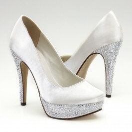 Over 100 Colors Platform Crystal Wedding Shoes