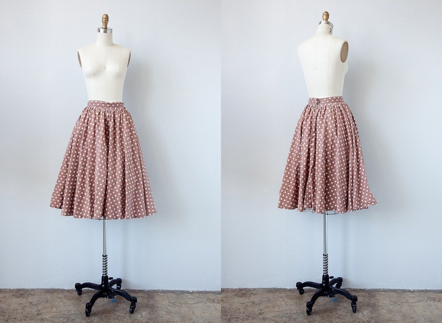 vintage 1950s skirt / vintage 50s skirt / circle skirt / novelty print retro 50s skirt