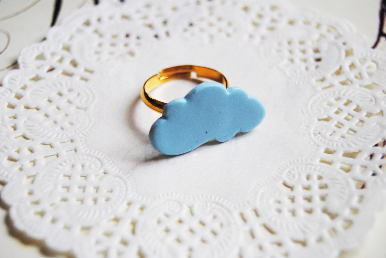 Blue cloud ring / Bague nuage bleu