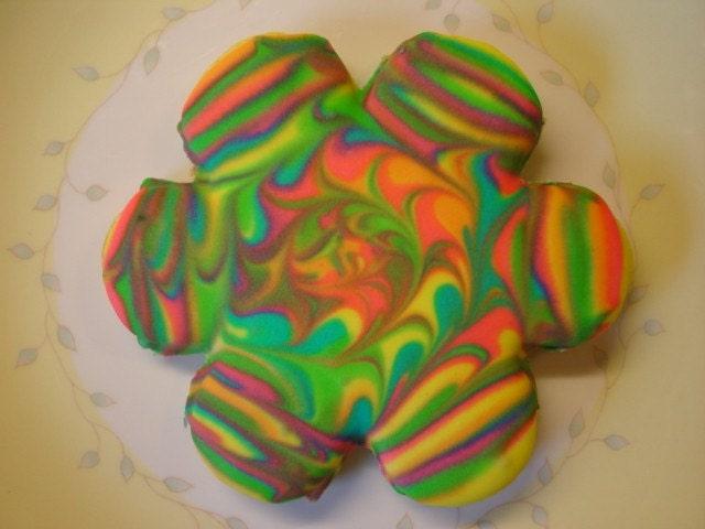 Kaleidoscope Cookies- Sugar Cookies with Lemon Icing