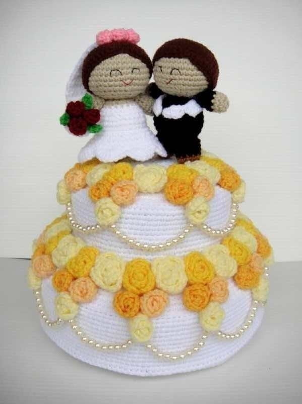 Crochet Pattern - WEDDING CAKE - Playfood / Toys / PDF