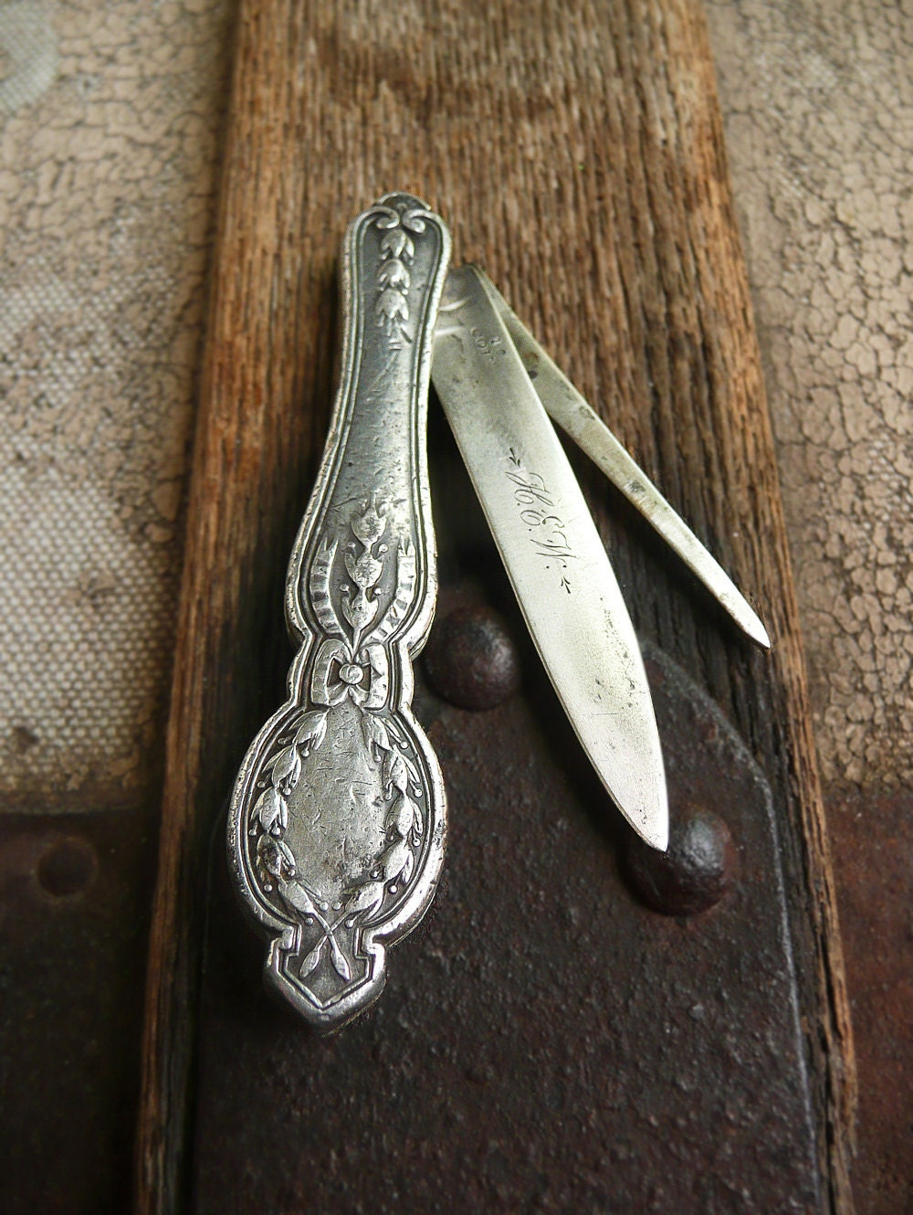 Antique Silver Fruit Knife Victorian Ladies By