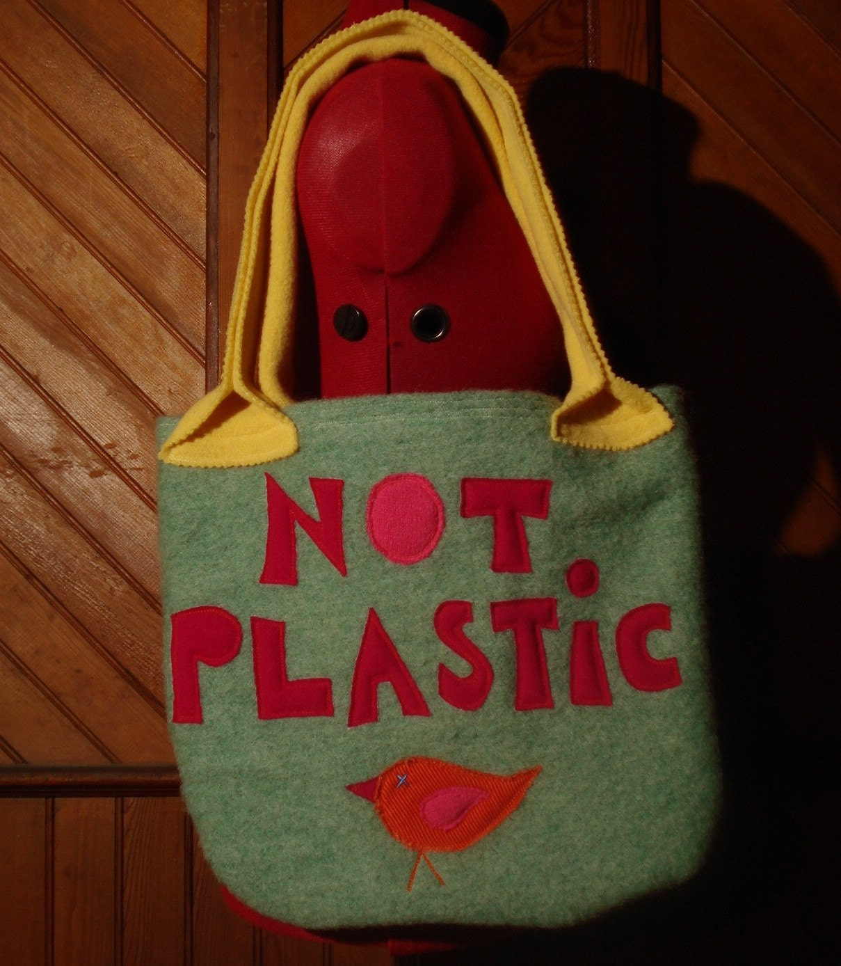 NOT PLASTIC - Recycled Wool Tote