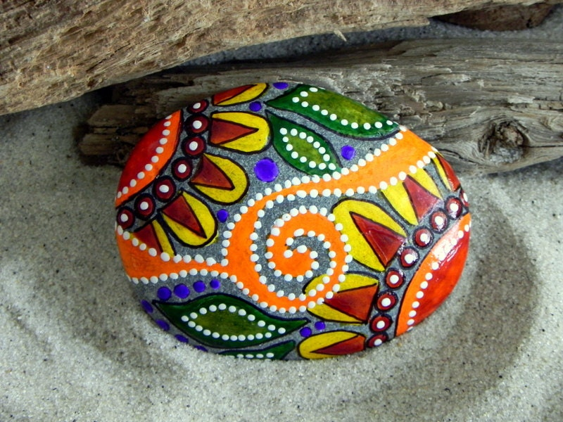 Triangle Painted Rock Ideas