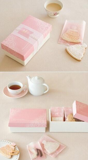 10 Elegant Pink Sweet Bags - (S) 70 x 105mm