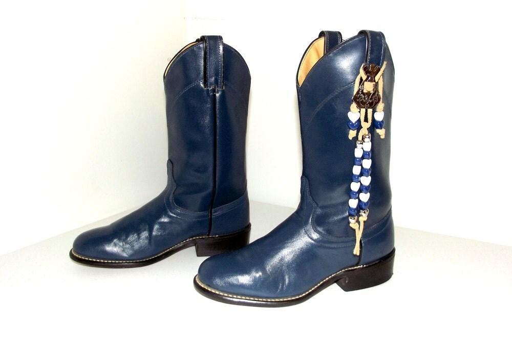 sweet vintage laredo brand navy blue cowboy by