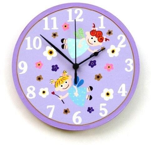 Сирень настенные часы с феями картина