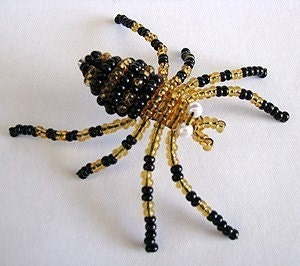 Beaded Spider Tutorial by AroundBeads on Etsy