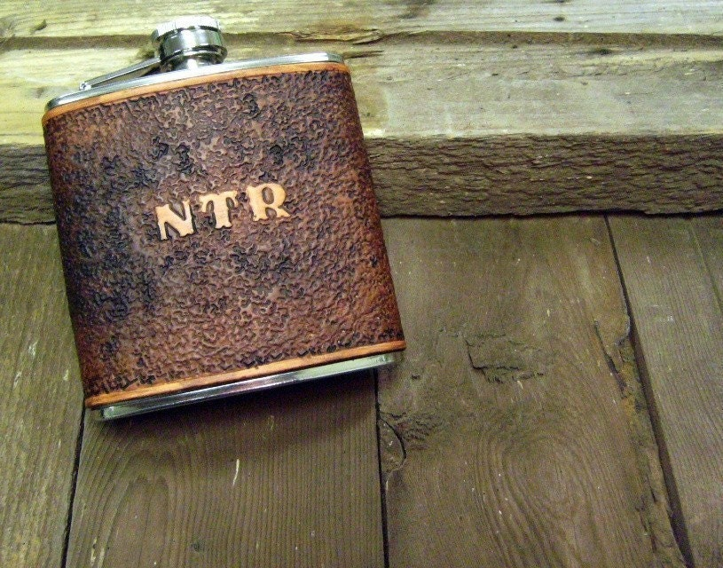 6 oz Distressed Flask