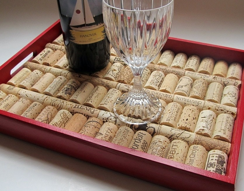 Tuscan Red Wine Cork Serving Tray
