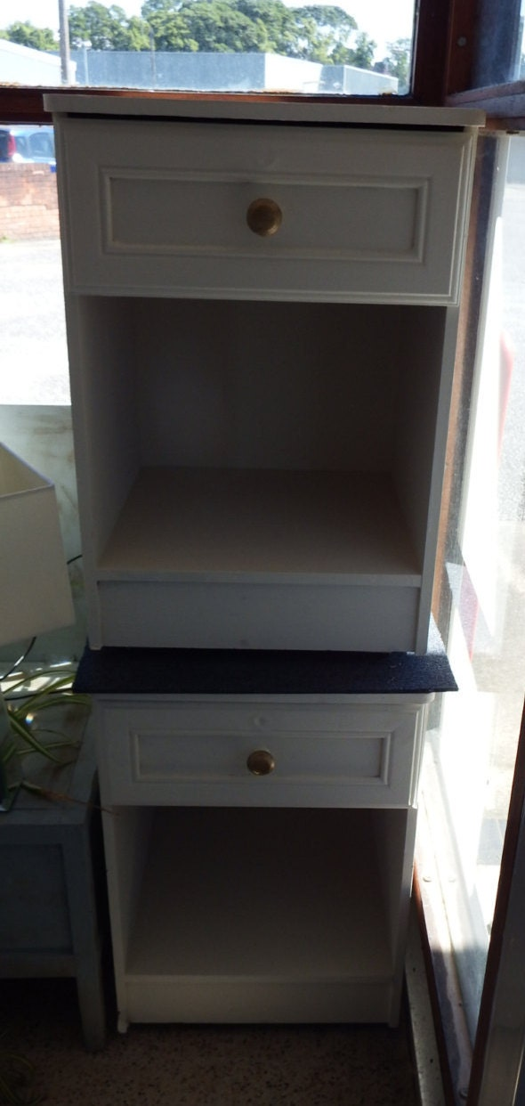 Two matching one  draw Bedside cabinet with storage space 6