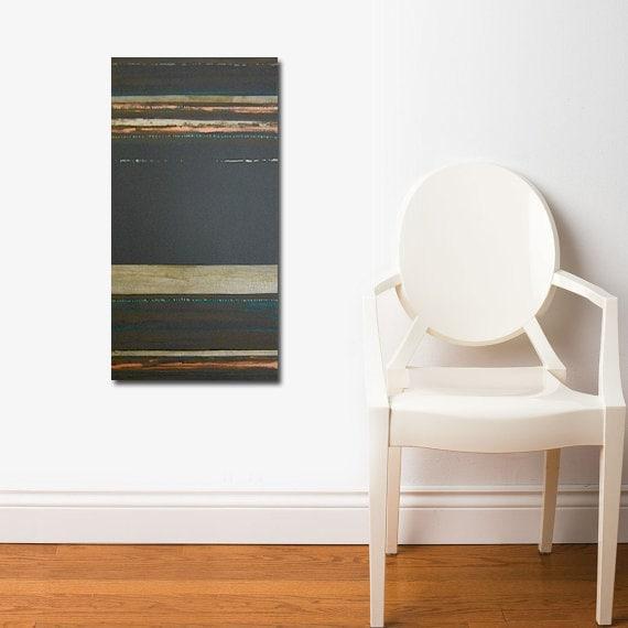 MADAGASCAR original abstract modern painting - gallery fine art - contemporary interior design - ooak home wall decor - copper brown gold - linneaheideart