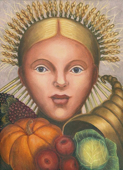 Harvest Girl ORIGINAL OIL PAINTING 12x9 inches - Free U.S. shipping