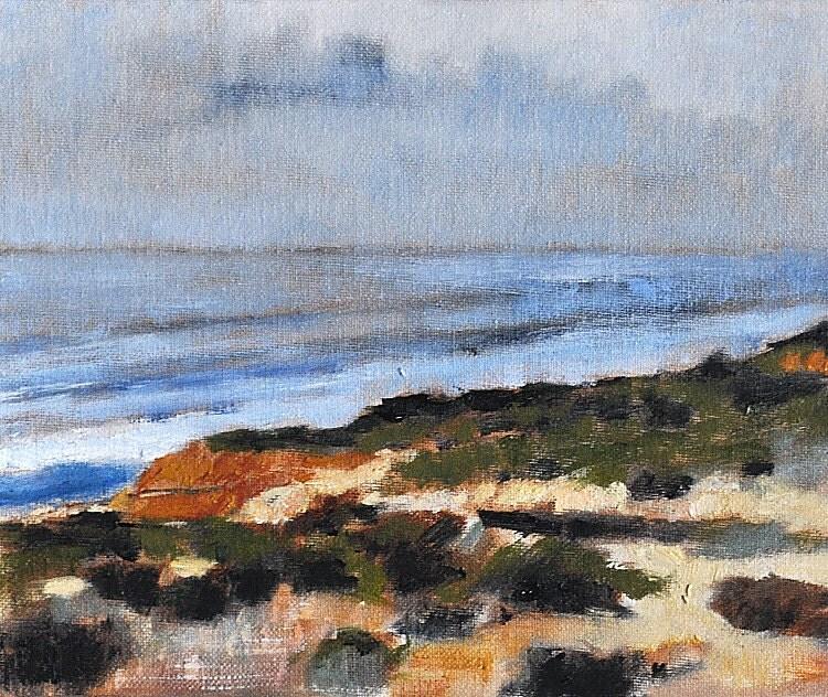San Diego California La Jolla Original Ocean Landscape Painting by Kevin Inman