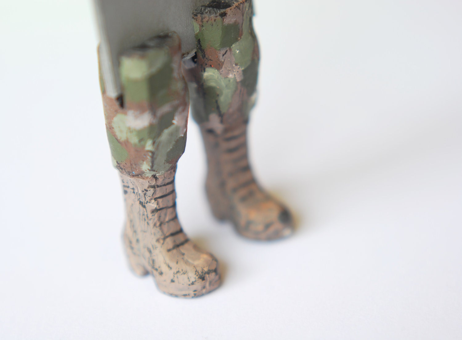 Man in Military boots. Camo legs in the book. Unusual art bookmark. Whimsical fathers day gift. oht - MyBookmark