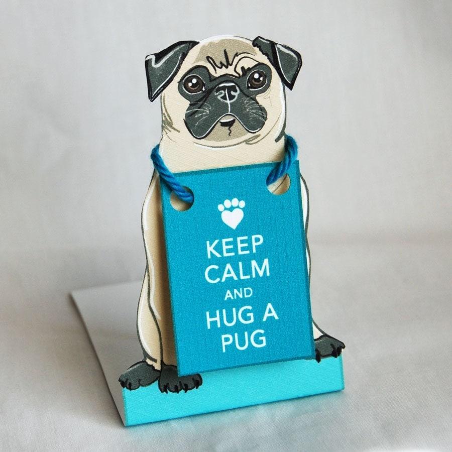 Keep Calm Pug - Desk Decor Paper Doll