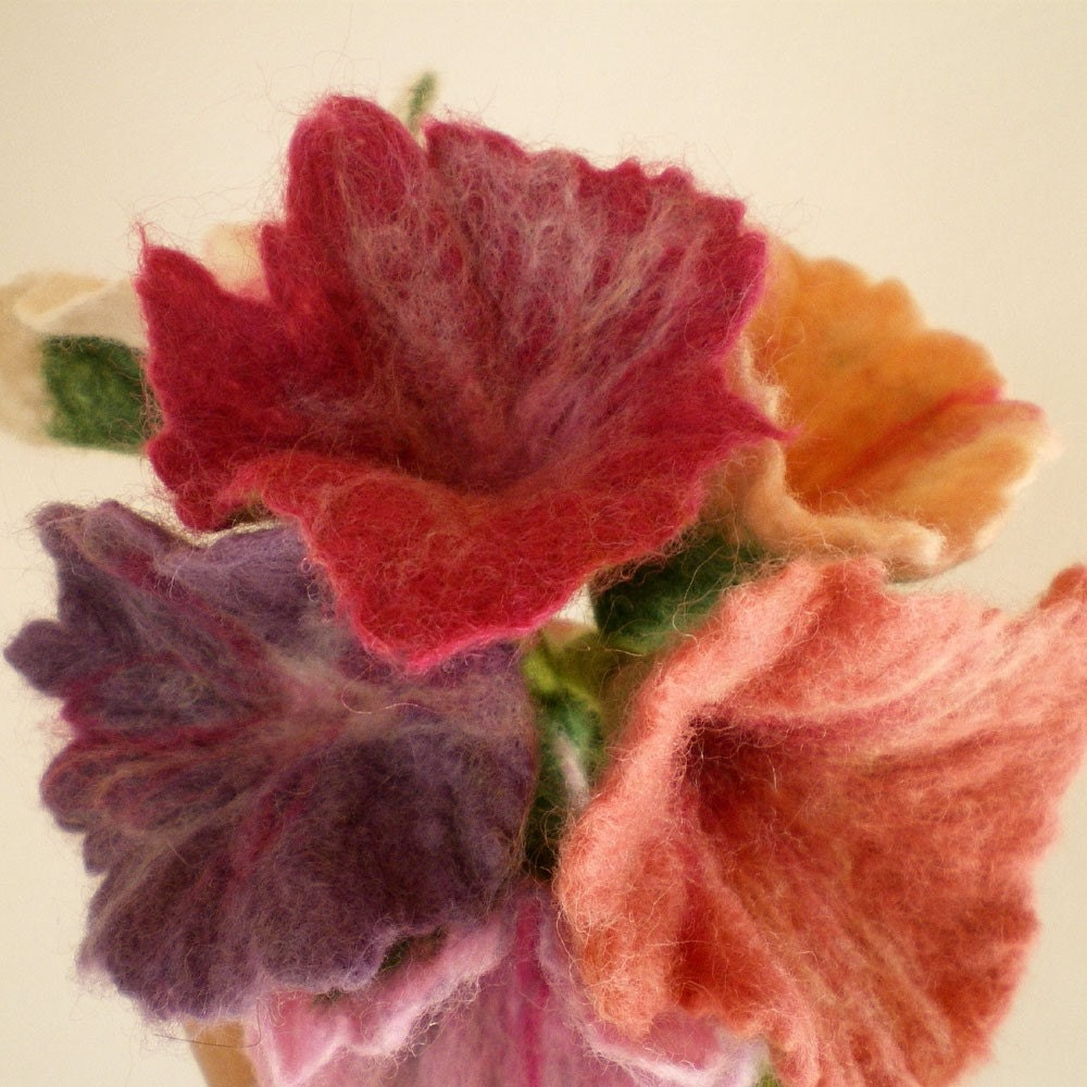 felted flower bouquet -unique moments- made to order