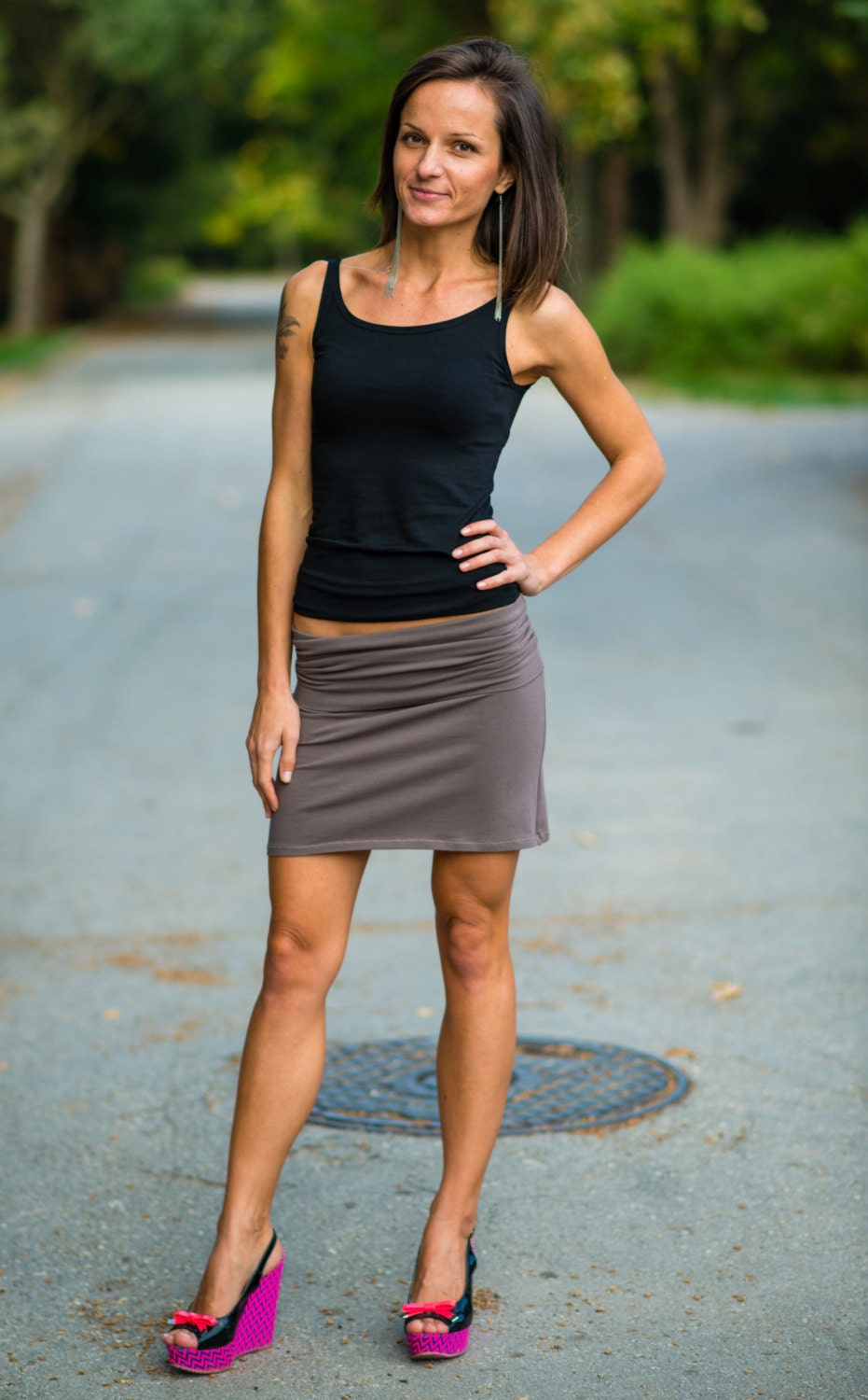 custom made everyday pencil skirt layered by